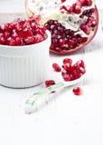 Fresh pomegranate seeds. Royalty Free Stock Image