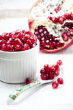 Fresh pomegranate seeds. Royalty Free Stock Photos