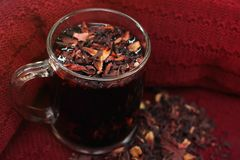 Fresh pomegranate tea in a cup royalty free stock photos