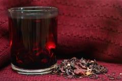 Fresh pomegranate tea in a cup stock photos