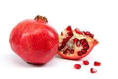 Fresh pomegranate on white background. Stock Photography