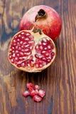 Fresh pomegranates Stock Images