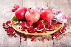 Fresh pomegranates Stock Photography