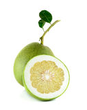 Fresh pomelo isolated on the white background Royalty Free Stock Photos