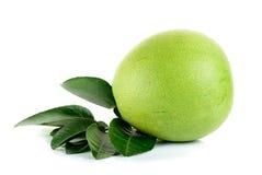 Fresh pomelo isolated on the white background Stock Photos