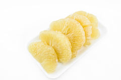 Fresh pomelo on white background Stock Photo