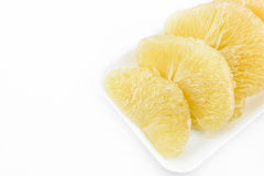 Fresh pomelo on white background Royalty Free Stock Photography