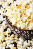 Fresh popcorn in bowl Royalty Free Stock Images