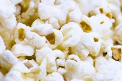 Fresh popcorn closeup texture. Fresh popcorn texture with shallow depth of field (perspective Stock Photography