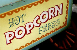 Fresh popcorn machine Royalty Free Stock Image
