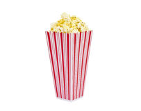 Fresh Popcorn with No Text Container Isolated Royalty Free Stock Photography
