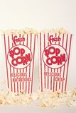 Fresh Popcorn in Two Boxes Stock Image
