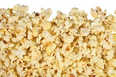 Fresh popcorn on a white Stock Photos