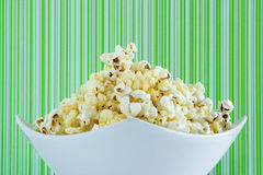 Fresh popcorn in a white bowl Royalty Free Stock Photography