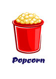 Fresh popped cartoon takeaway popcorn Stock Photos