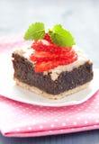 Fresh poppy seed cake Royalty Free Stock Photo