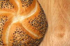 Fresh  poppy seed  roll Royalty Free Stock Images
