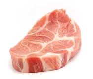 Fresh pork. Fresh boneless pork isolated on white background with shadows Stock Images