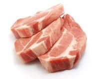 Fresh pork. Fresh boneless pork isolated on white background with shadows Royalty Free Stock Photo