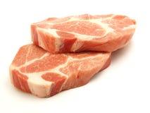 Fresh pork. Fresh boneless pork isolated on white background with shadows Royalty Free Stock Image