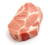 Fresh pork. Fresh boneless pork isolated on white background with shadows Royalty Free Stock Photos