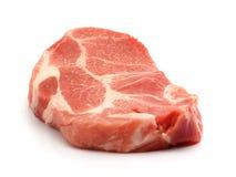 Fresh pork. Fresh boneless pork isolated on white background with shadows Stock Photo