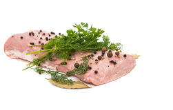 Fresh pork fillet Royalty Free Stock Images