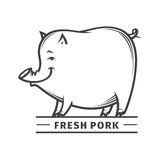 Fresh pork label Royalty Free Stock Photos