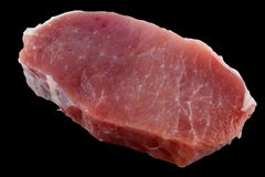Fresh pork loin chops Stock Image