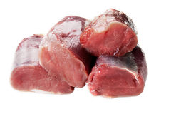 Fresh pork loin isolated Royalty Free Stock Photos