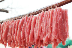 Fresh pork in the market Royalty Free Stock Photo
