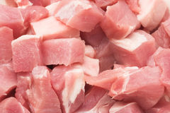 Fresh pork meat. Pieces of fresh pork meat ready for cooking Royalty Free Stock Images