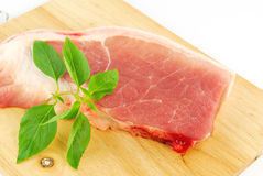 Fresh pork meat on a cutting board Stock Image