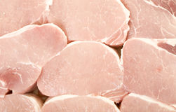 Fresh Pork Meat Pieces Background. Close up, macro view Stock Image