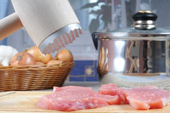 Fresh pork meat preparation Stock Image