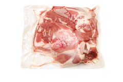 Fresh pork meat in vacuum packed  scapula Stock Photo