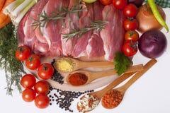 Fresh pork meat Royalty Free Stock Photos
