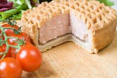Fresh pork pie Royalty Free Stock Image