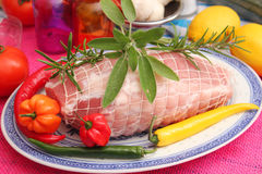Fresh pork roast Royalty Free Stock Images