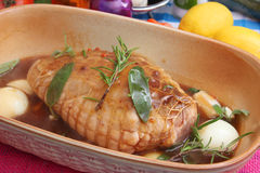Fresh pork roast Stock Photos
