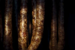 Fresh pork sausages Stock Photography