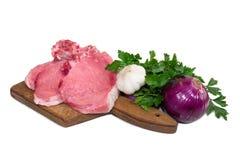 Fresh pork steak Stock Image