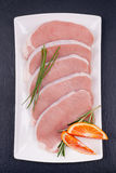 Fresh pork steaks Stock Image
