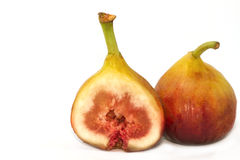 Fresh portion figs fruit isolated Stock Photos