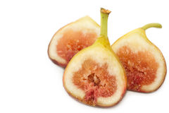 Fresh portion figs fruit isolated Royalty Free Stock Photo