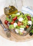 Fresh Portion of Salad with Mozzarella Royalty Free Stock Photos