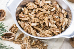 Fresh portion of Walnuts Royalty Free Stock Photo