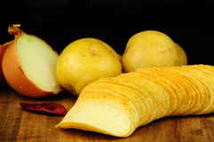 Fresh potato chips Royalty Free Stock Photography