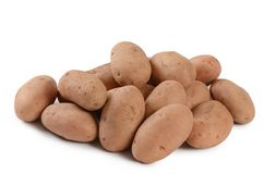 Fresh potato close up isolated on white background Royalty Free Stock Photos