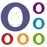 Fresh potato icons set Stock Image